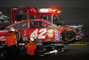 Once again, Montoya's car involved in another incident.