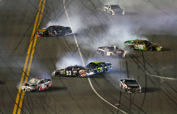 If there's a big wreck, Kyle Busch seems to find it.