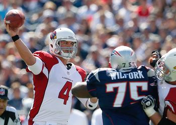 The Arizona Cardinals' Kevin Kolb outlasted New England's pass-rushers in Week 2.