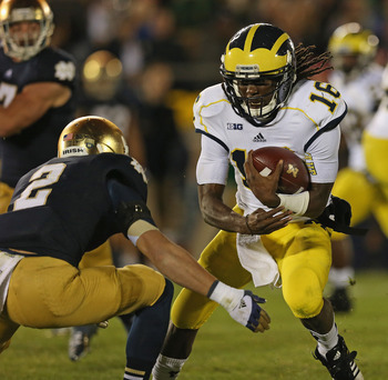 Denard Robinson and Michigan have struggled this season. It doesn't get easier at Purdue.