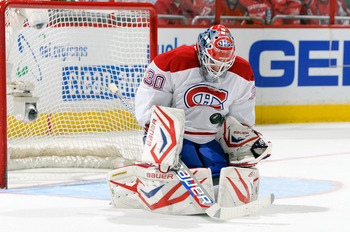 Peter Budaj of the Montreal Canadiens.