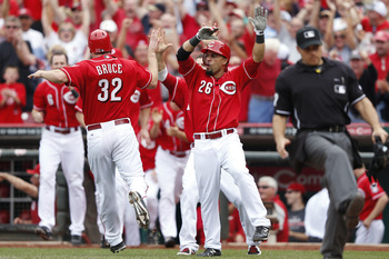 The Reds' bats will come alive when they return home for Game 3 of the NLDS.
