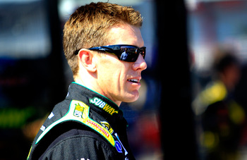 Carl Edwards avoided The Big One last year and left with the lead.