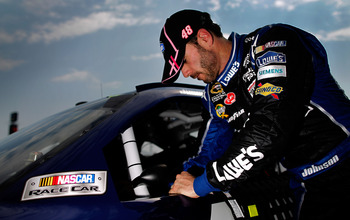 Jimmie Johnson parlayed a ninth-place Talledega finish in 2008 to a 72-point lead.