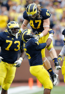 Michigan's defense was led Saturday by ferocious play from the likes of Jake Ryan