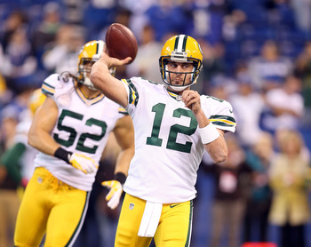 Rodgers and the Packers struggled against the Colts on Sunday