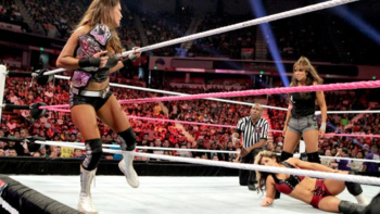 Layla watches Eve leave, after the Divas champ went too far. (Photo Credit: WWE.com)
