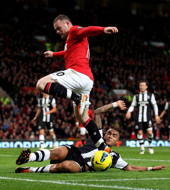 Missed Yesterday : Simpson Tackles Rooney At Old Trafford