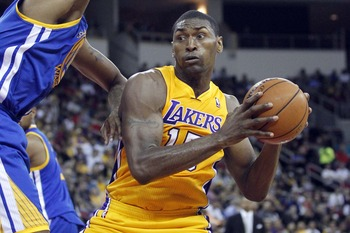 A slimmed-down Metta World Peace already looks ready for the regular season.