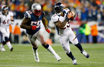 Brandon Spikes getting beat by Willis McGahee