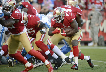 Frank Gore is the workhorse in a run heavy 49ers offense.