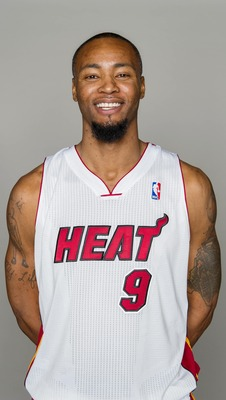 Rashard Lewis at Miami Heat Media Day