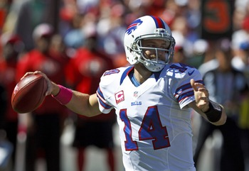 SAN FRANCISCO, CA - OCTOBER 07: Quarterback Ryan Fitzpatrick #14 of the Buffalo Bills passes the ball against the San Francisco 49ers during the first quarter at Candlestick Park on October 7, 2012 in San Francisco, California. (Photo by Jason O. Watson/G