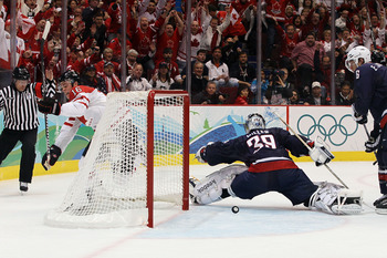 Toews had a key goal in the Goal Medal Game for Canada.