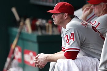 Philadelphia Phillies pitcher Roy Halladay.