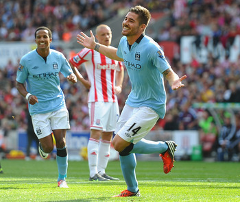Javi Garcia scores for Manchester City