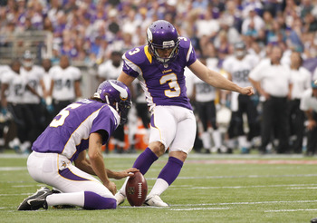 Kicker Blair Walsh is 12-of-13 on field goals and consistently boots kickoffs into the end zone for touchbacks.