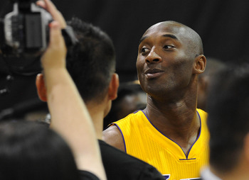 Kobe Bryant at Lakers' Media Day