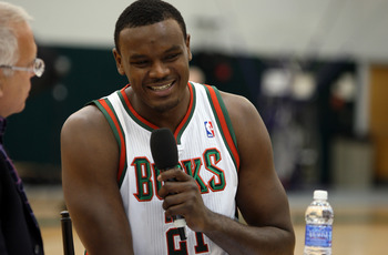 Center Samuel Dalembert at Bucks' Media Day