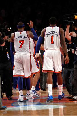 Carmelo Anthony and Amar'e Stoudemire of the Knicks