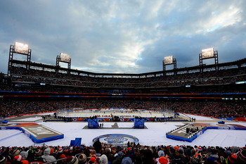 The setup for the 2012 NHL Winter Classic.