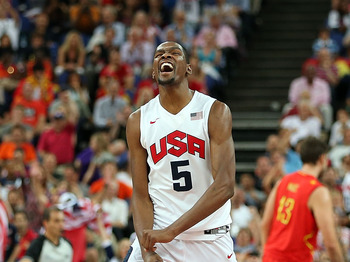 Kevin Durant led team USA in scoring in 2012.