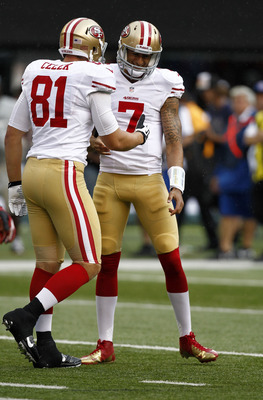 If Kaepernick was the rookie in this photo, he'd certainly get the ROY.