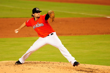 Miami Marlins pitcher Nate Eovaldi.