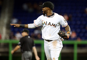 Miami Marlins shortstop Jose Reyes.