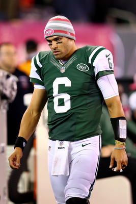 Mark Sanchez in the Jets' Monday night's game against the Houston Texans.