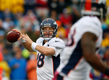 Peyton Manning finds the open receiver.