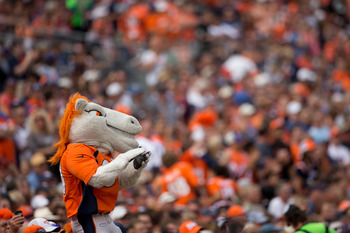 Miles, the Denver Broncos mascot, should have plenty to cheer for in the coming months.