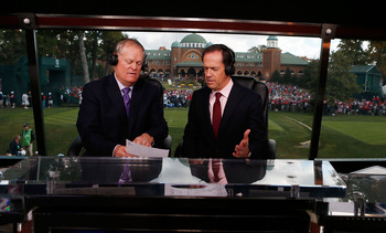 Johnny Miller, left, has become a top golf analyst for NBC.