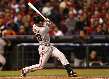 Buster Posey leads the Giants with three hits in the NLDS.