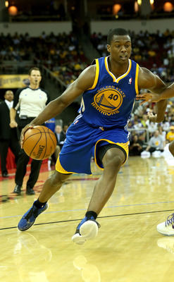 Harrison Barnes in the Warriors' Oct. 7 preseason game against the Lakers.