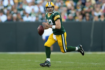 Rodgers will rely on his ability to buy time with his legs.