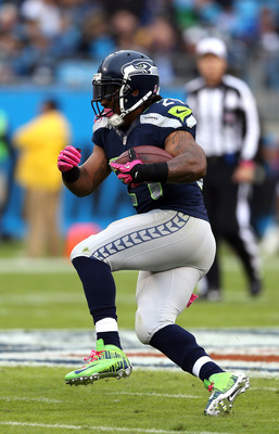 Beast Mode in action against the Panthers.