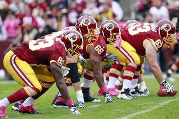 The Redskins' offensive line has to put in an improved performance.
