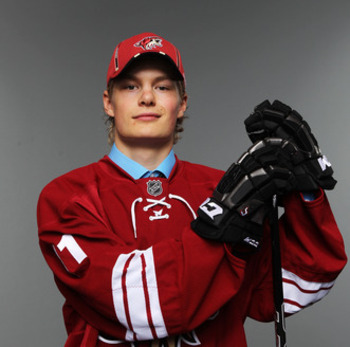 Ruuttu was the 51st choice overall (2nd Round) in the 2011 NHL Draft. He currently is playing in Europe-- Photo courtesy of bleacherreport.com