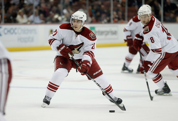 Miele looks for his shot in a game last year in Phoenix
