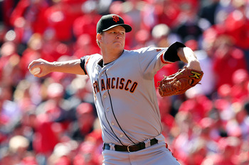 Starting pitcher Matt Cain came undone in sixth inning.