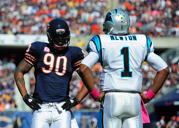 Julius Peppers and Cam Newton
