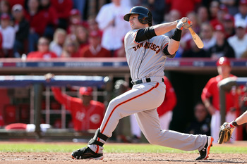 Buster Posey hits a Grand Slam off Mat Latos