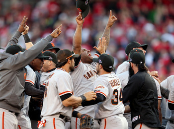 The Giants won all three road games in their NLDS.