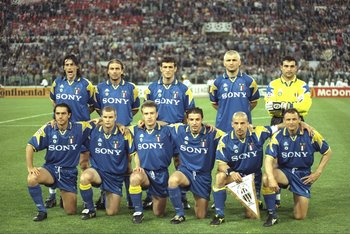 Juventus' 1996 UEFA Champions League winning squad