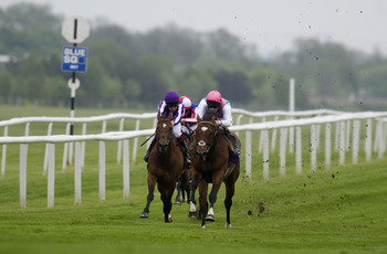 Excelebration (in purple) lays it down to Frankel.