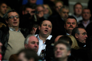 Mike Ashley (centre) is one of the least popular men across Tyne and Wear.