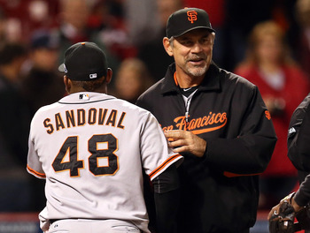 Bruce Bochy and the Giants are all smiles after the NLDS, with little to believe they won't be after the NLCS.