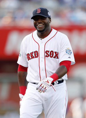 KANSAS CITY, MO - JULY 10:  American League All-Star David Ortiz #34 of the Boston Red Sox smiles before the 83rd MLB All-Star Game at Kauffman Stadium on July 10, 2012 in Kansas City, Missouri.  (Photo by Jamie Squire/Getty Images)