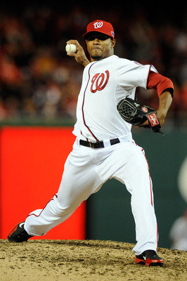 WASHINGTON, DC - OCTOBER 12:  Edwin Jackson #33 of the Washington Nationals pitches against the St. Louis Cardinals in Game Five of the National League Division Series at Nationals Park on October 12, 2012 in Washington, DC.  (Photo by Patrick McDermott/G